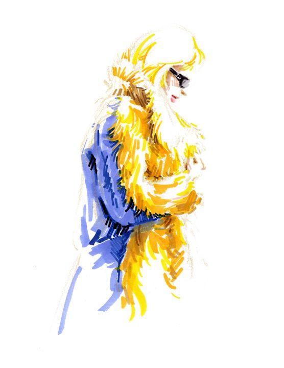 Woman in fur coat - Jung Eun Kim