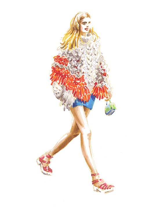 Girl in a knitted coat - Jung Eun Kim