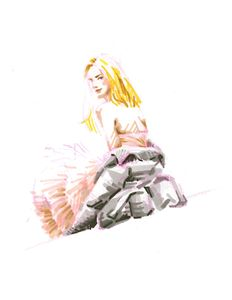 Girl in pink tutu skirt