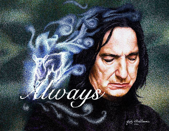 Severus Snape - Pointillism Art by Judy
