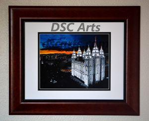 Salt Lake LDS Temple at Dusk