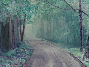Mystic Wooded Road
