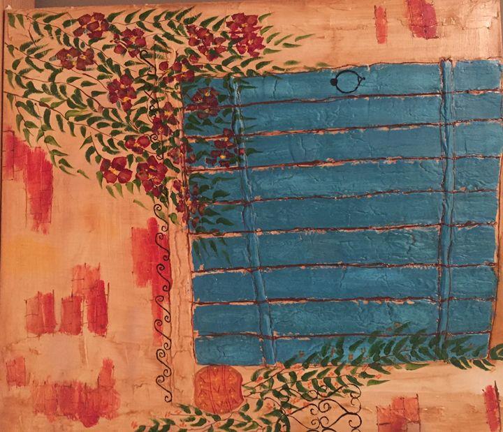 blue window - Rim Dhouib