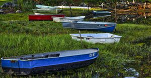 Boats in Marsh - Cape Neddick -Maine