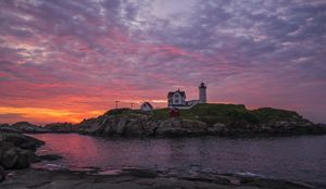 Dawn at the Nubble, Maine