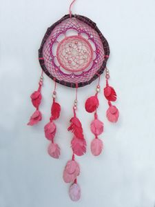 Pink Handcrafted Dreamcatcher