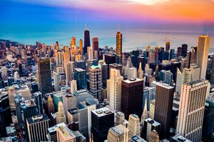 Colors over Chi-town.