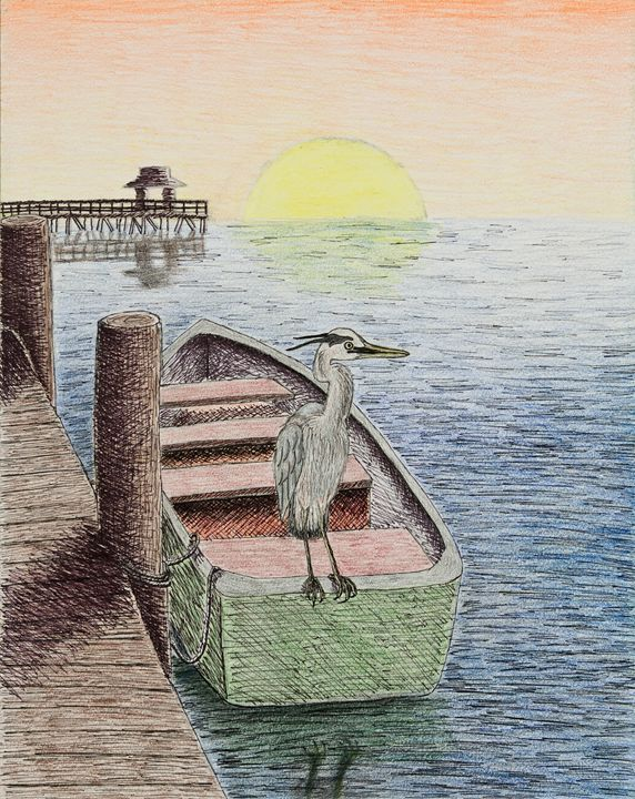 Great Blue Heron - JK Art Life