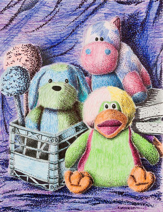 Stuffed Toy Still Life - JK Art Life