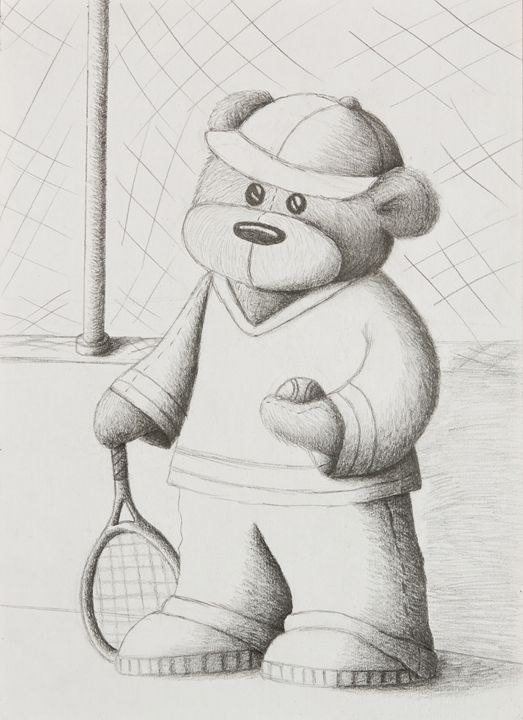 Tennis Teddy - JK Art Life