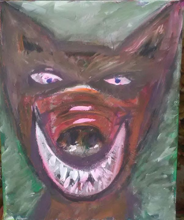 PEABODY THE DEVIL DOG - DEAD MAN WALKING FINE ART