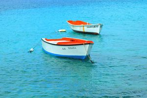 Small Colorful Boats - Bonaire