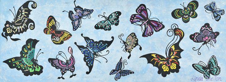 """""""Butterflies"""" - Linda D. Shelton's Paint Box"""