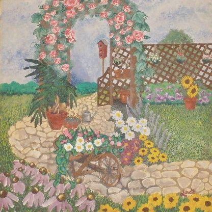 """""""Garden Scene"""" - Linda D. Shelton's Paint Box"""