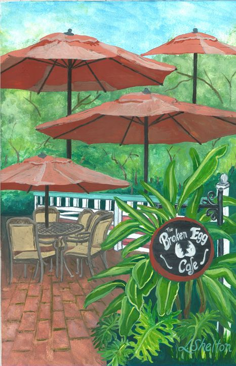 """The Broken Egg Cafe"" - Linda D. Shelton's Paint Box"