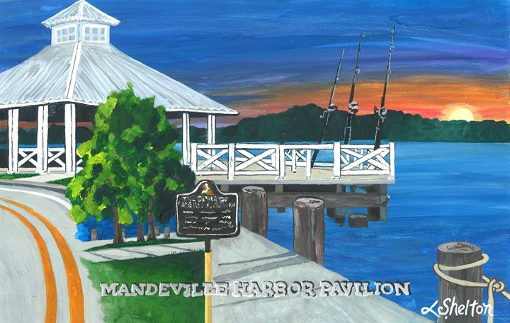 """Mandeville Harbor Pavillion"" - Linda D. Shelton's Paint Box"