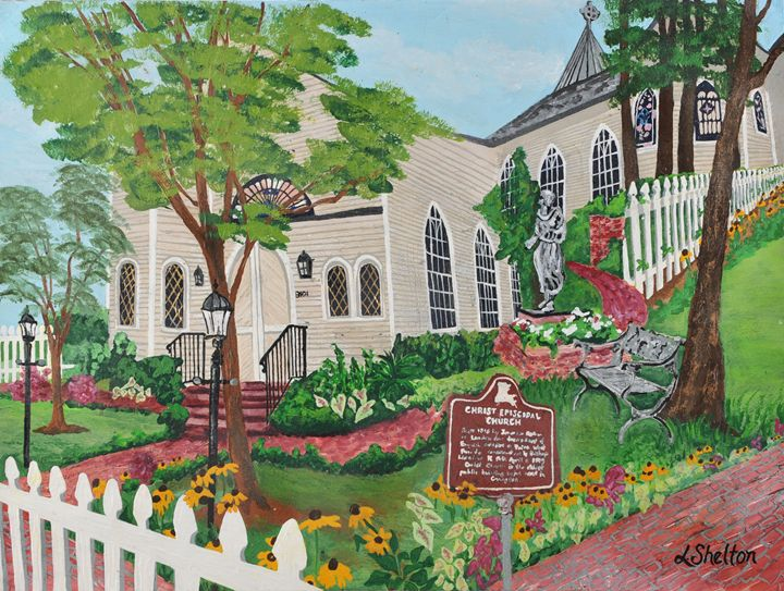 """Christ Episcopal Church"" - Linda D. Shelton's Paint Box"