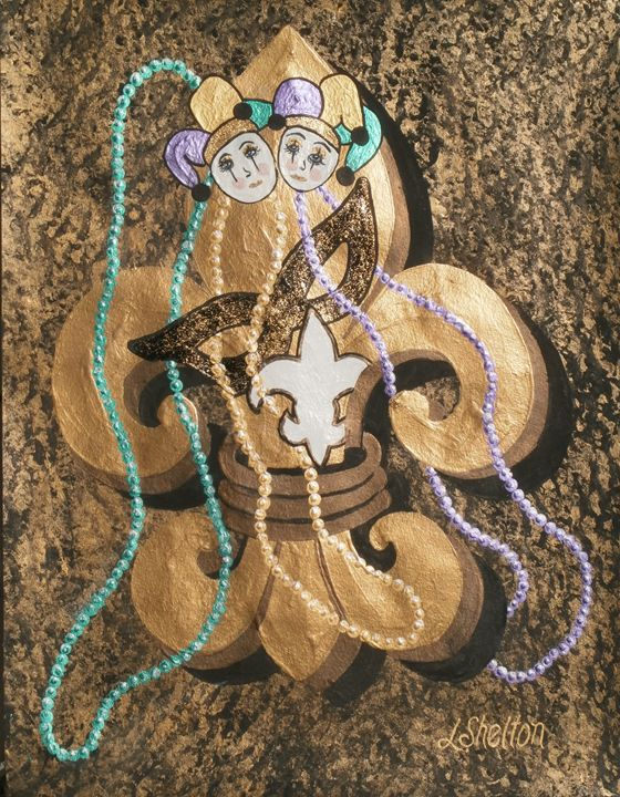 """""""Mardi Gras Fleur de Lis - #1"""" - Linda D. Shelton's Paint Box"""
