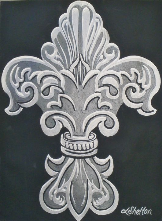 """Ornate Fleur de Lis"" - Linda D. Shelton's Paint Box"