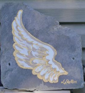 "*""Angel Wing on Slate - #2"