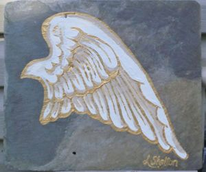 "*""Angel Wing on Slate - #1"