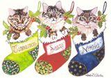 Christmas Cat Trio