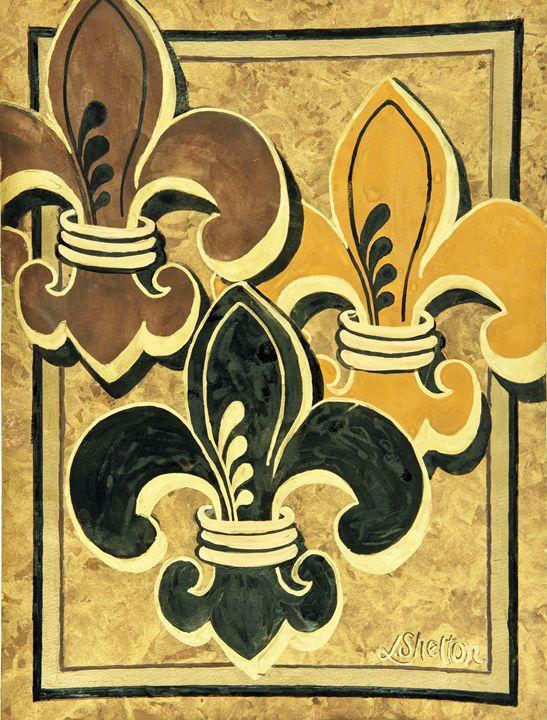#1 Multi-Fleur de Lis - Linda D. Shelton's Paint Box