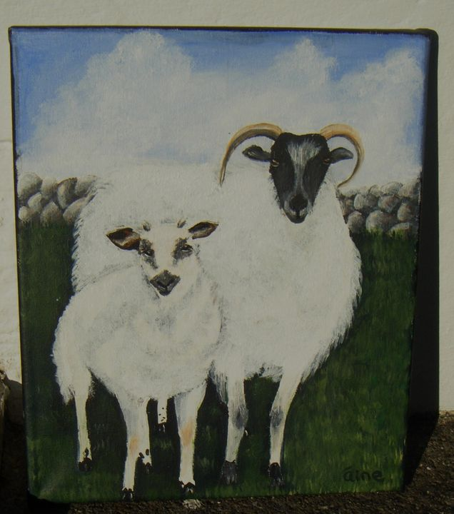 Connemara Sheep - Aine Art