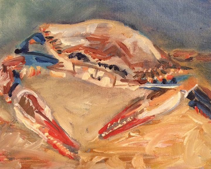 Maryland Blue Crab at MJs New Bern - Lisa Bisbee Lentz at Greater Good Gallery