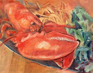 Steamed Lobster Dinner, Art New Bern