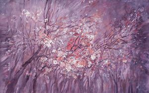 Large blossoms painting 100x160cm