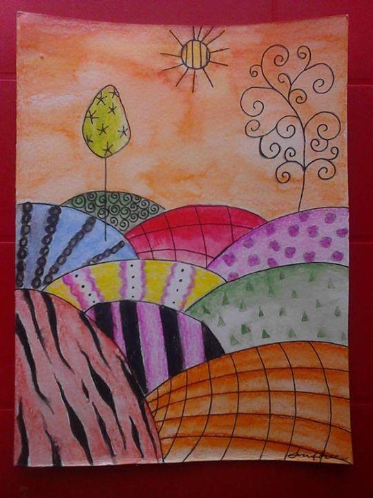 rolling hills - Jennifer Rose Art