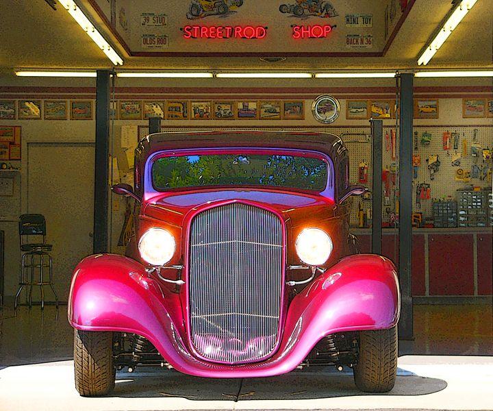 Street Rod Shop - Larry West Art