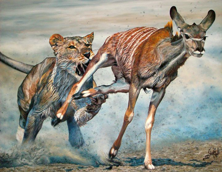 The Antelope Hunter - Shams Khalili Paintings