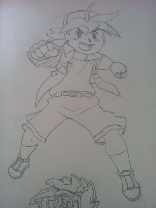 Tyson (From Beyblade) :) :) :) :) :) - Some Cartoon Sketches (By MaxBhatt92)