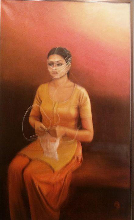 Woman with mask - Munira fouzia