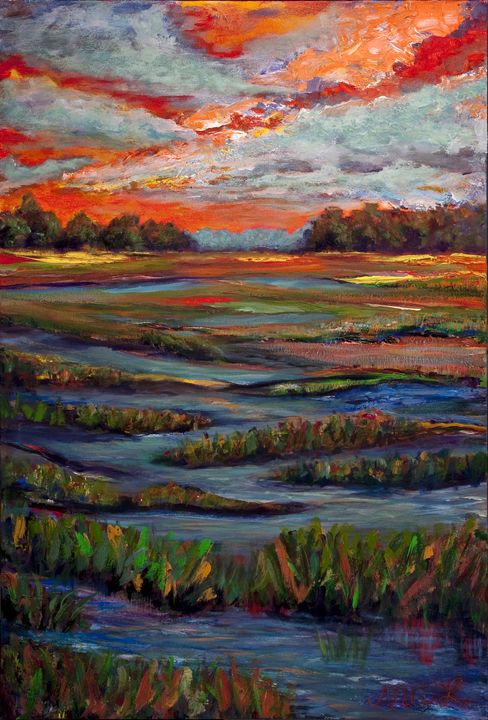 Creek - Decorative Impressions by Ann Lutz