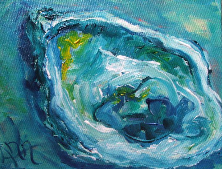 Blue oyster - Decorative Impressions by Ann Lutz