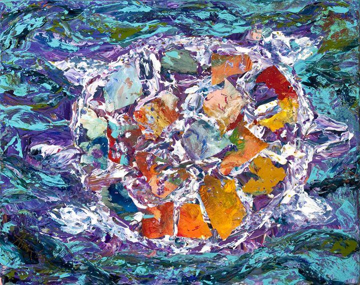 Mosaic Turtle - Decorative Impressions by Ann Lutz