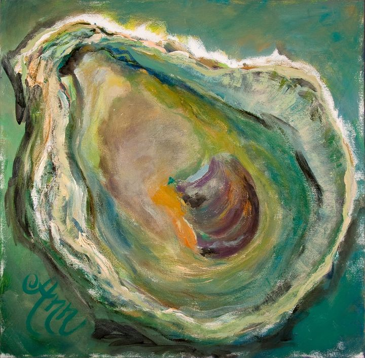 Teal Oyster - Decorative Impressions by Ann Lutz