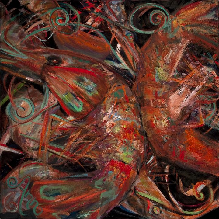 Boiled Shrimp - Decorative Impressions by Ann Lutz