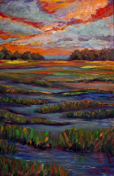 Orange sunset - Decorative Impressions by Ann Lutz