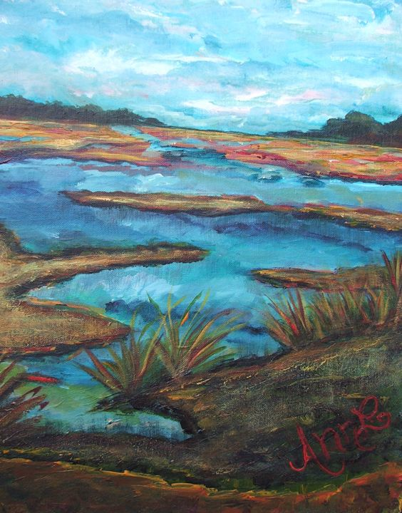 Meandering Marsh - Decorative Impressions by Ann Lutz