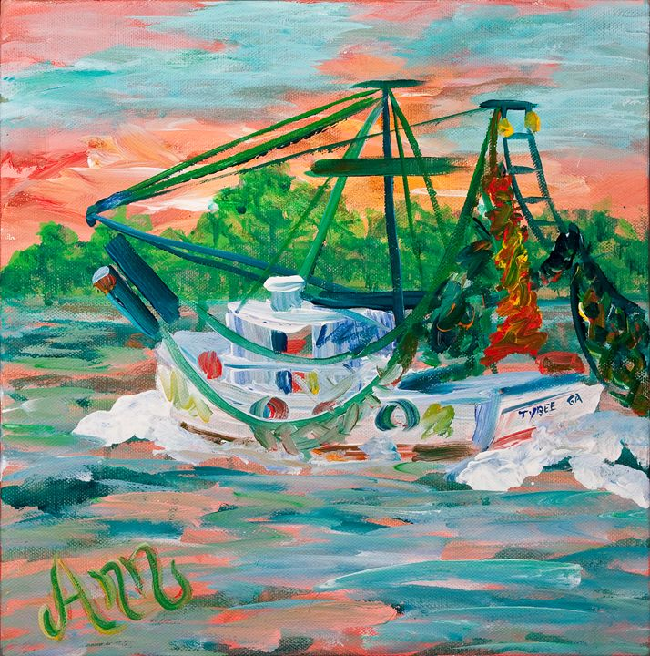 Shrimp Boat - Decorative Impressions by Ann Lutz
