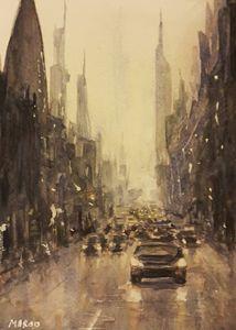 Watercolor Cityscape 2