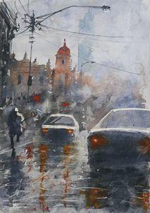 Watercolor Cityscape 4