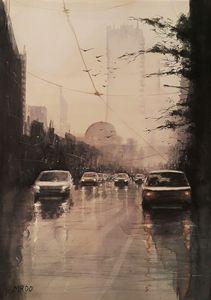 Watercolor Cityscape 3