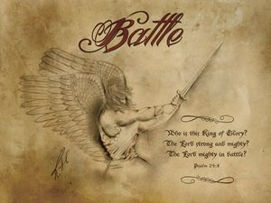 Battle Antique Image - Angelic Perspectives