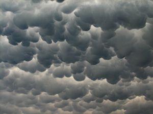 unusual  looking clouds