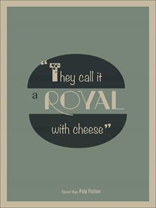A Royal With Cheese, Pulp Fiction
